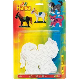 "Hama Stiftplatten ""Pferd, Hund, Katze"", im Blister"