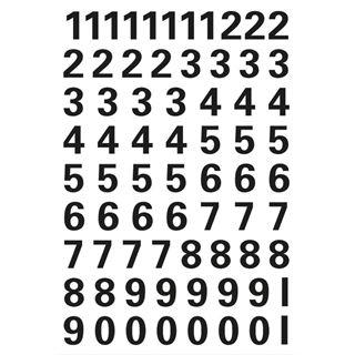 HERMA Zahlen-Sticker 0-9, Folie schwarz, Höhe: 10 mm