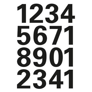HERMA Zahlen-Sticker 0-9, Folie schwarz, Höhe: 25 mm