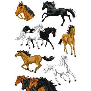"HERMA Sticker MAGIC ""Pferde"", Stone glittery"
