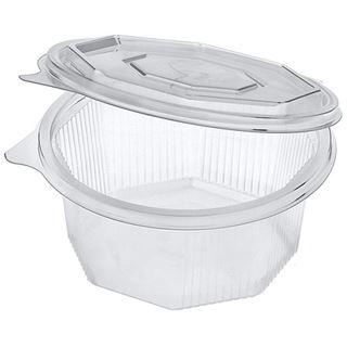PAPSTAR Verpackungsbecher eckig, mit Klappdeckel, 1.000 ml