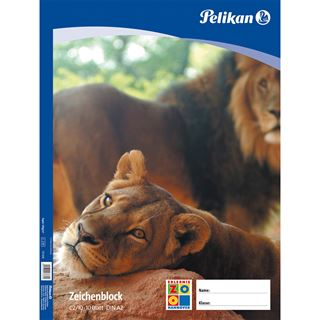 Pelikan Zeichenblock C 2/10, DIN A2, 100 g/qm, 10 Blatt