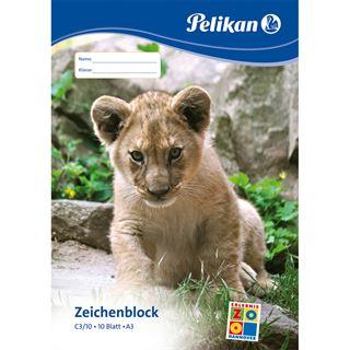 Pelikan Zeichenblock C 3/10, DIN A3, 100 g/qm, 10 Blatt