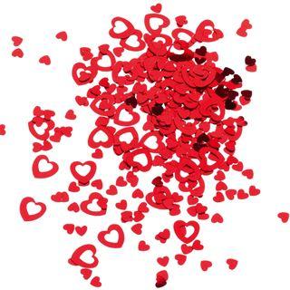 """SUSY CARD Streuschmuck """"Herz"""", aus Folie, Farbe: rot"""