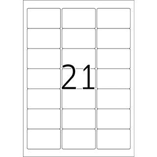 TOP STICK Universal-Etiketten, 63,5 x 38,1 mm, weiß