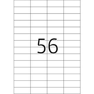 TOP STICK Universal-Etiketten, 52,5 x 21,2 mm, weiß