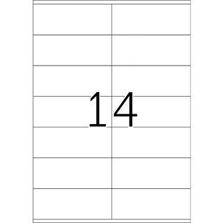 TOP STICK Universal-Etiketten, 105 x 41 mm, weiß