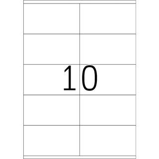 TOP STICK Universal-Etiketten, 105 x 57 mm, weiß