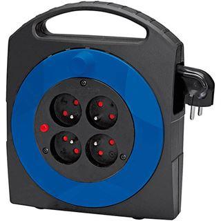 brennenstuhl Kabelbox Primera-Line, schwarz/blau, Kabel: 5 m