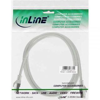 (€15,60*/1m) 0.25m InLine Cat. 5e Patchkabel SF/UTP RJ45 Stecker auf RJ45 Stecker Weiß Twisted Pair