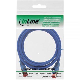 (€2,30*/1m) 3.00m InLine Cat. 6 Patchkabel S/FTP PiMF RJ45 Stecker auf RJ45 Stecker Blau halogenfrei / Kupfer
