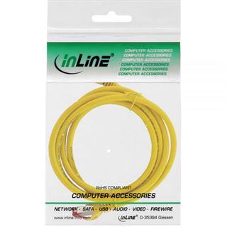 (€4,90*/1m) 1.00m InLine Cat. 6 Patchkabel S/FTP PiMF RJ45 Stecker auf RJ45 Stecker Gelb halogenfrei / Kupfer