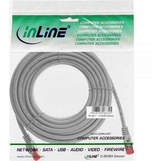 (€0,80*/1m) 20.00m InLine Cat. 6 Patchkabel S/FTP PiMF RJ45 Stecker auf RJ45 Stecker Grau halogenfrei / Kupfer