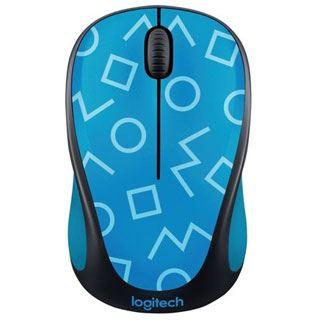 Logitech M238 Geo Blue USB schwarz mit Motiv (kabellos)