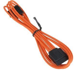 BitFenix Molex zu SATA Adapter 45 cm sleeved orange/schwarz