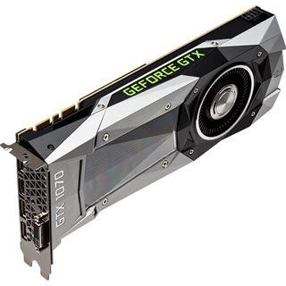 8GB PNY GeForce GTX 1070 Founders Edition Aktiv PCIe 3.0 x16 (Retail)