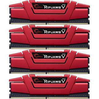 64GB G.Skill RipJaws V rot DDR4-3200 DIMM CL14 Quad Kit
