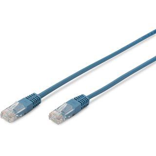 (€1,63*/1m) 3.00m Digitus Cat. 5e Patchkabel SF/UTP RJ45 Stecker auf RJ45 Stecker Blau Premium