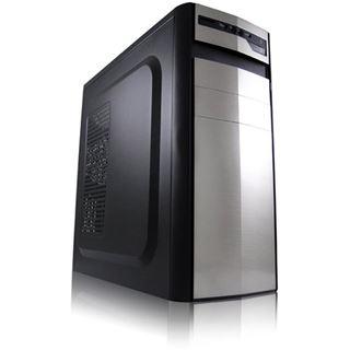 LC-Power 7017S Midi Tower ohne Netzteil schwarz/silber